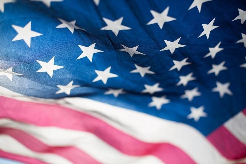 americká vlajka detail