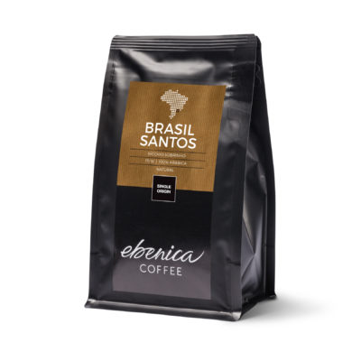 obal kávy Brasil Santos