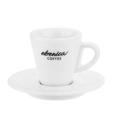 kávové šálky na espresso s podšálkou Ebenica