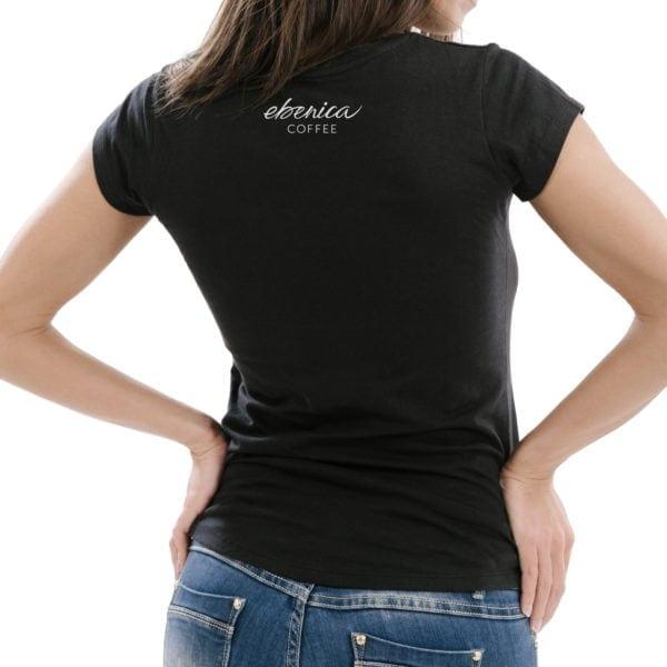 dámske tričko Nedostatok kofeínu detail chrbát