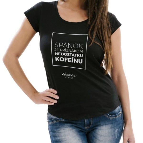 dámske tričko Nedostatok kofeínu detail