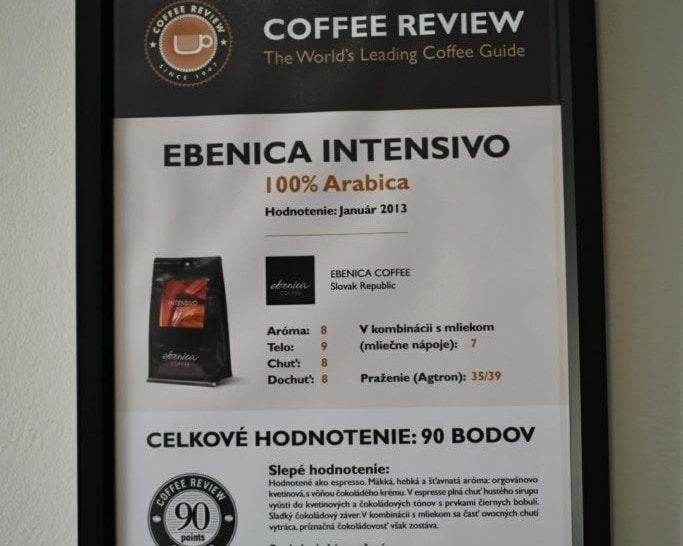 certifikát coffee review