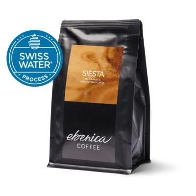 balenie nízkokofeínovej kávy Ebenica Siesta