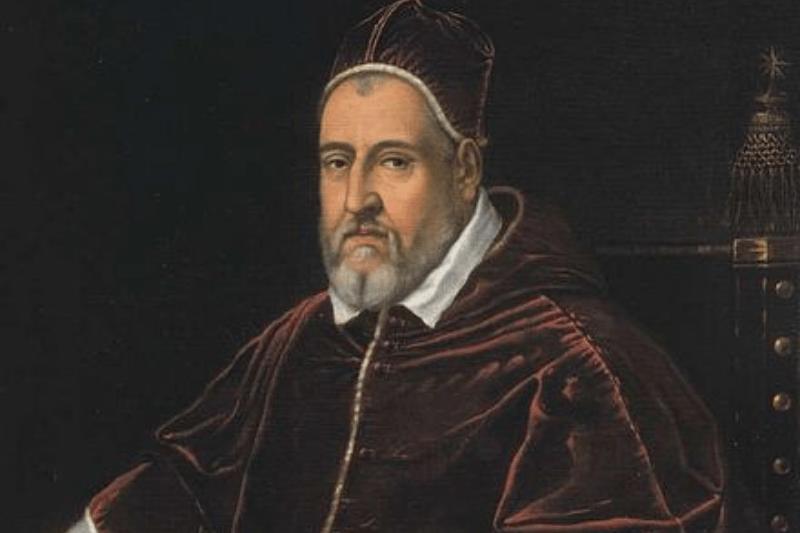 historická maľba pápeže Clementa VIII.