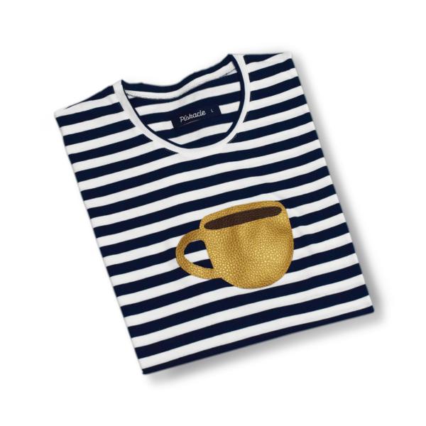 zložené pískacie tričko espresso šálka
