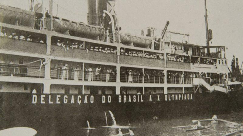 historická fotografia brazílskej lode Itaquice