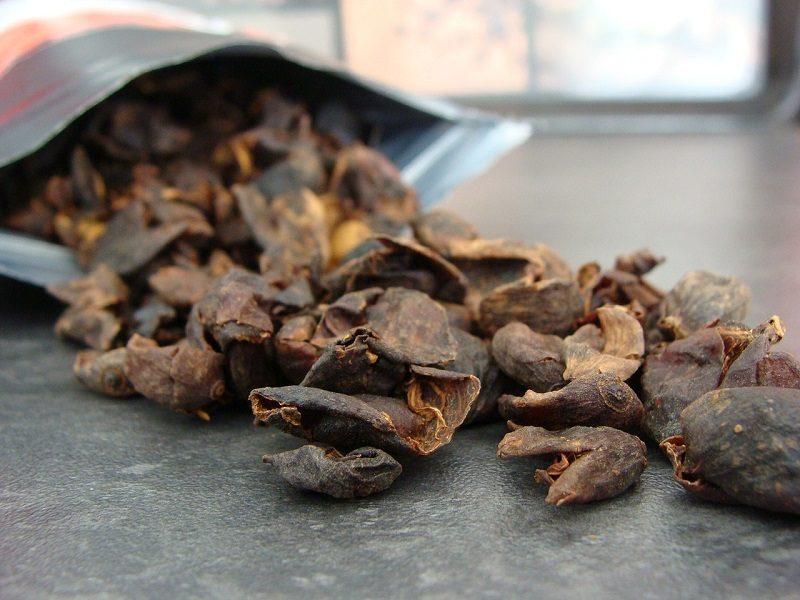 cascara - sušené šupky čerešní z kávovníka