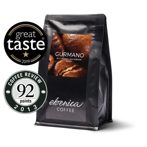 balenie kávy Ebenica Gurmano Great Taste