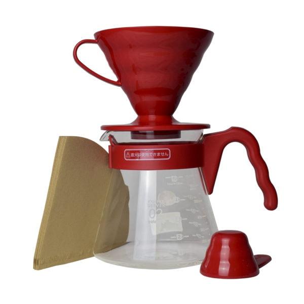 4-dielna sada na prípravu kávy