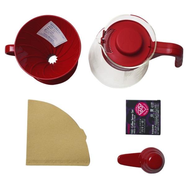 sada V60 na prípravu filtrovanej kávy