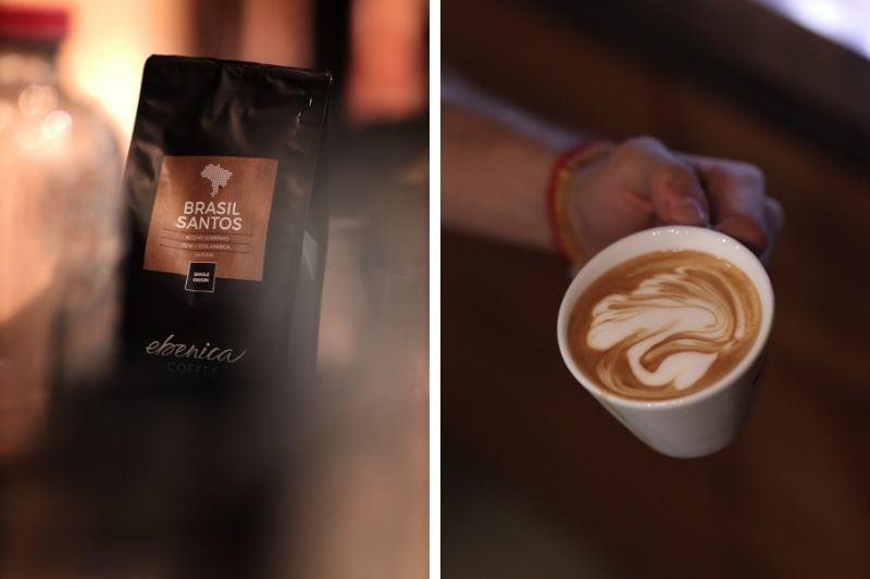 balíček brazílskej kávy a cappuccino