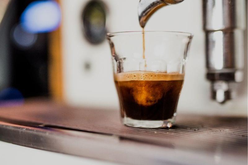 príprava ristretto kávy