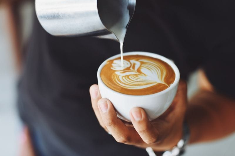 príprava latte artu