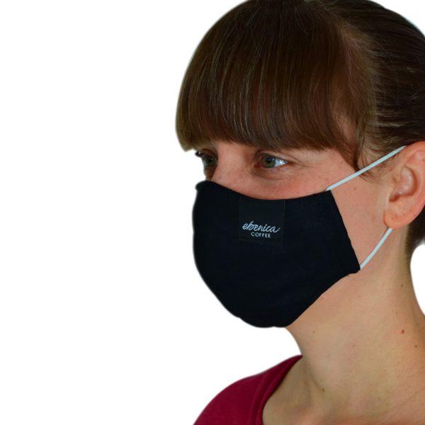 dámske čierne rúško maska