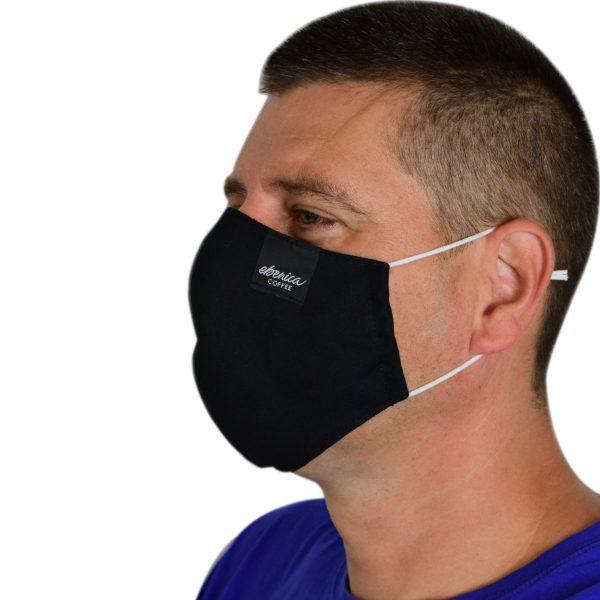 pánske čierne rúško maska