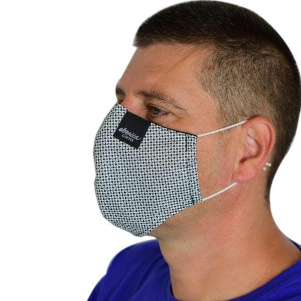 pánske pepitové rúško maska