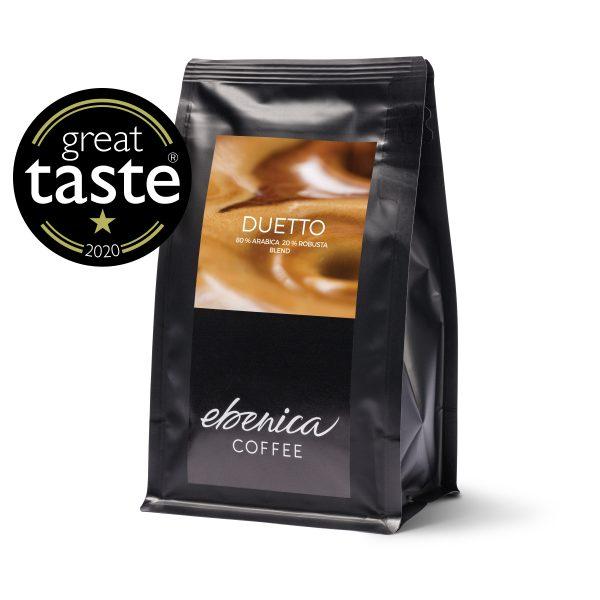 víťazná káva Duetto