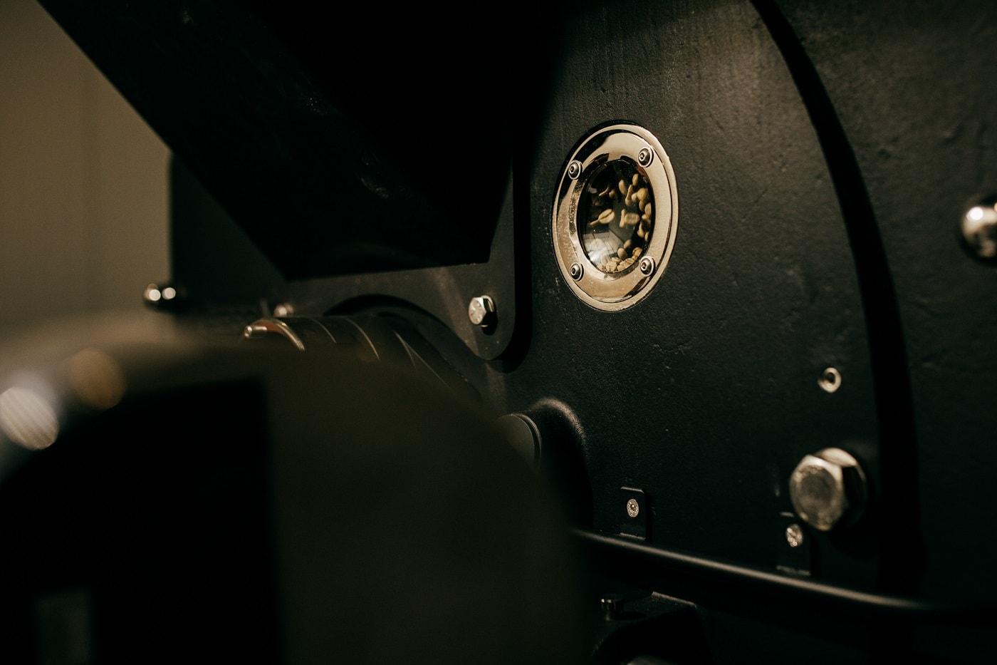 nový pražiaci stroj detailne