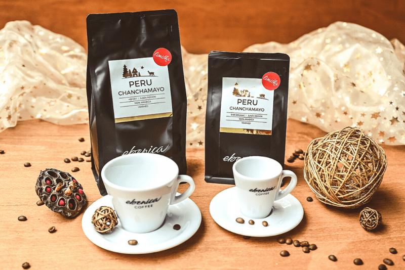 vianočná edícia kávy Ebenica