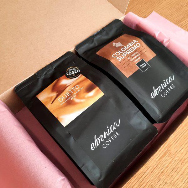 valentínsky kávový balíček - Duetto a Colombia
