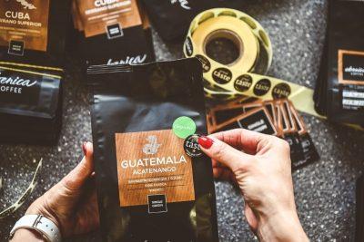 balenie kávy Ebenica