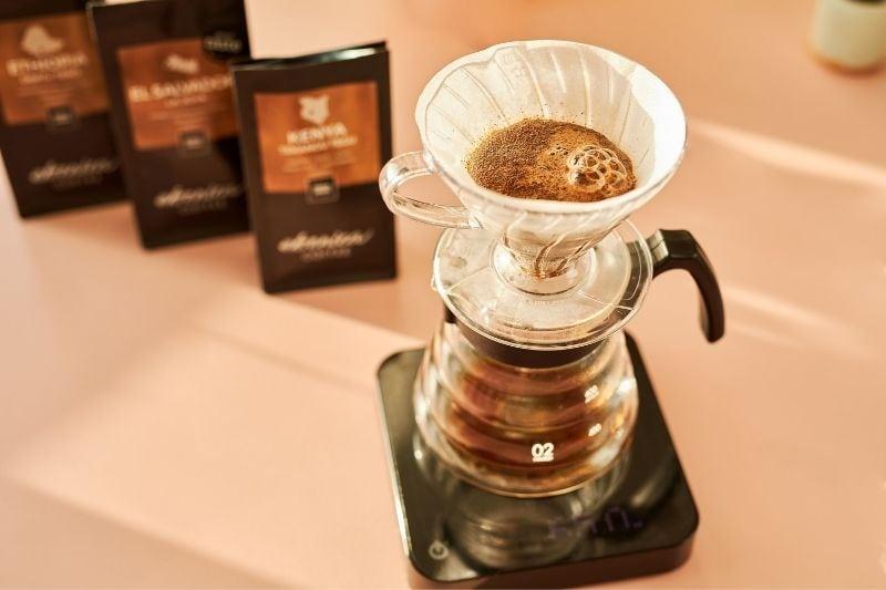 vzorky na filtrovanú kávu