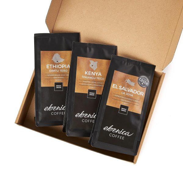vzorky ovocných káv Ebenica