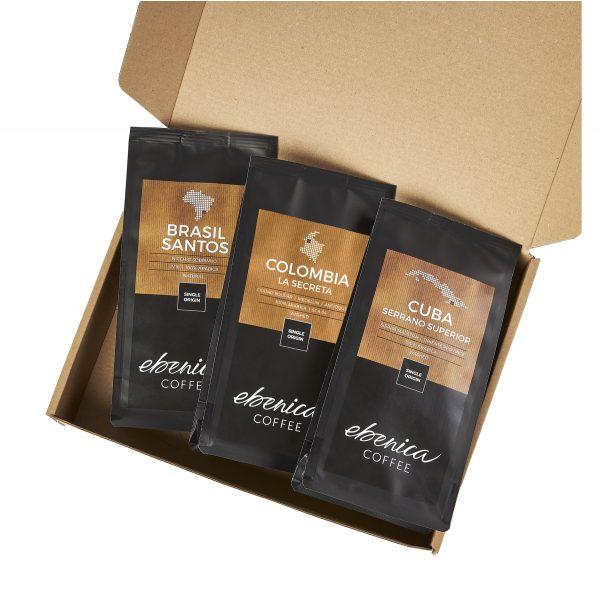 vzorky moderných káv Ebenica